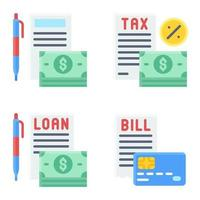 Payment documents icon set Payment related vector