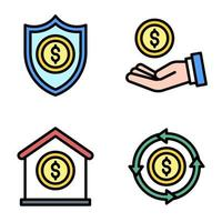 Security of payment icon set Payment related vector
