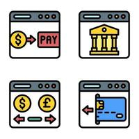 Payment gateway icon set 2 Payment related vector