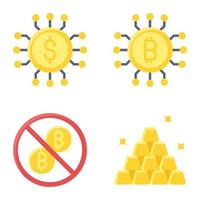 Asset icon set Payment related vector