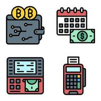 Digital Payment icon set Payment related vector