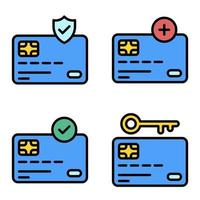 Credit or Debit card icon set Payment related vector