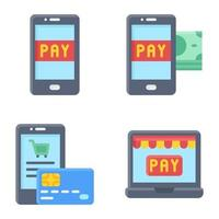 Mobile payment icon set 3 Payment related vector