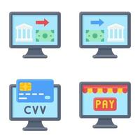Online Payment icon set Payment related vector