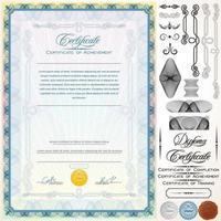 Certificate Design Template vector