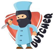 Hand drawn butcher cartoon style vector