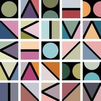 Simple geometric shapes background pattern vector