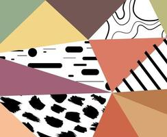 Lowpoly abstract geometric shapes pattern ornament vector