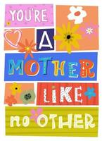 Happy Mothers Day Greeting Card Poster Flyer vector