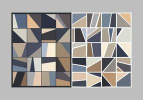Abstract geometric shapes tile pattern vector