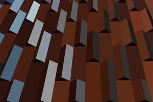 Flat abstract building wall pattern vector