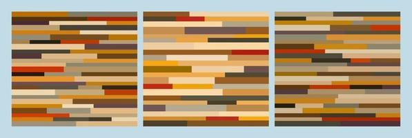 Three abstract mosaic wall print panels vector