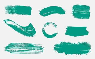 Paint Brush Ink Stroke Collection Set vector