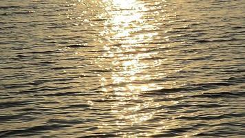 reflejo de la luz del atardecer en el agua video