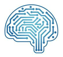 Vector Artificial Intelligence Concept Illustration Isolated On A White Background