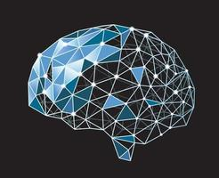 Vector Artificial Intelligence Concept Illustration Isolated On A Black Background