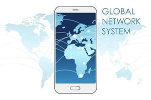 Global Network System Vector Concept Illustration