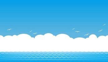 Ocean View Background With Text Space vector