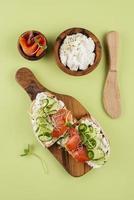 Beautiful arrangement of delicious food photo
