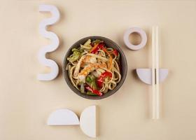 Creative arrangement of delicious food photo