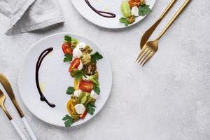 hermosa variedad de comida deliciosa foto