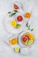 Creative composition of delicious food photo