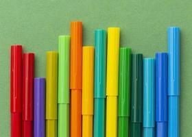 concepto gráfico con marcadores de colores foto