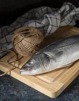 Raw fish assortment for cooking photo