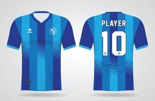 plantilla de camiseta deportiva azul para uniformes de equipo y diseño de camiseta de fútbol vector