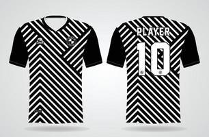 plantilla de camiseta deportiva en blanco y negro para uniformes de equipo y diseño de camiseta de fútbol vector