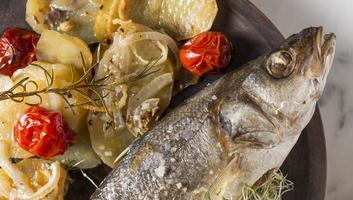 The Bass fish dish assortment photo