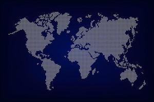World map  dotted style vector