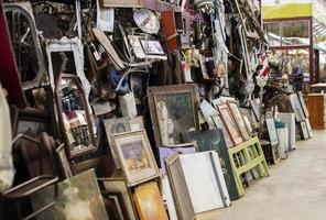 Arrangement of antiques market objects photo