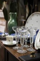 Composition of antiques market objects photo