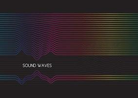 abstract sound waves design background vector