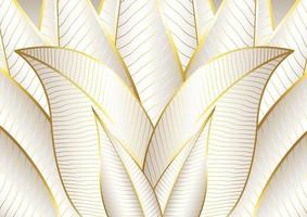 Abstract background with golden linear design vector
