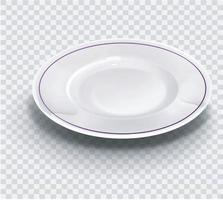 plato vacío aislado sobre fondo transparente vista desde arribavector ilustrador 10 vector