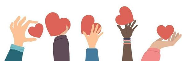 hands Concept of charity and donation vector