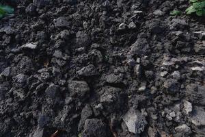 suelo fertilizante textura de fondo foto