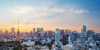 Cityscape of Tokyo skyline photo