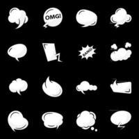 Comic Bubbles Elements vector