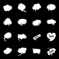 Speech Bubbles Elements vector