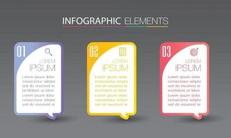 infografía de banner de plantilla de cuadro de texto moderno vector