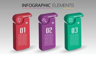 modern text box template banner Infographics vector