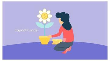 illustration of capital funds vector