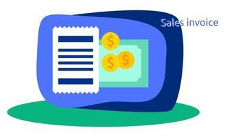 sales invoice design template vector