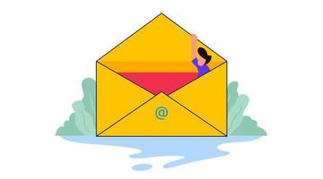 illustration of email inbox vector
