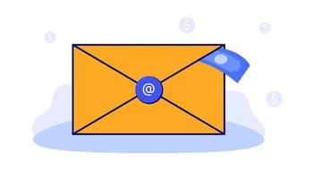 landing page illustration of email marketing fees vector
