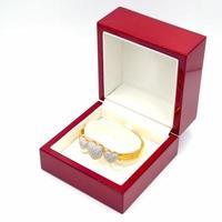 corazón de pulsera de diamantes foto