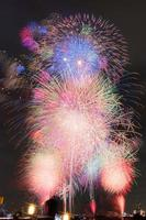 Fireworks over the sky in summer photo